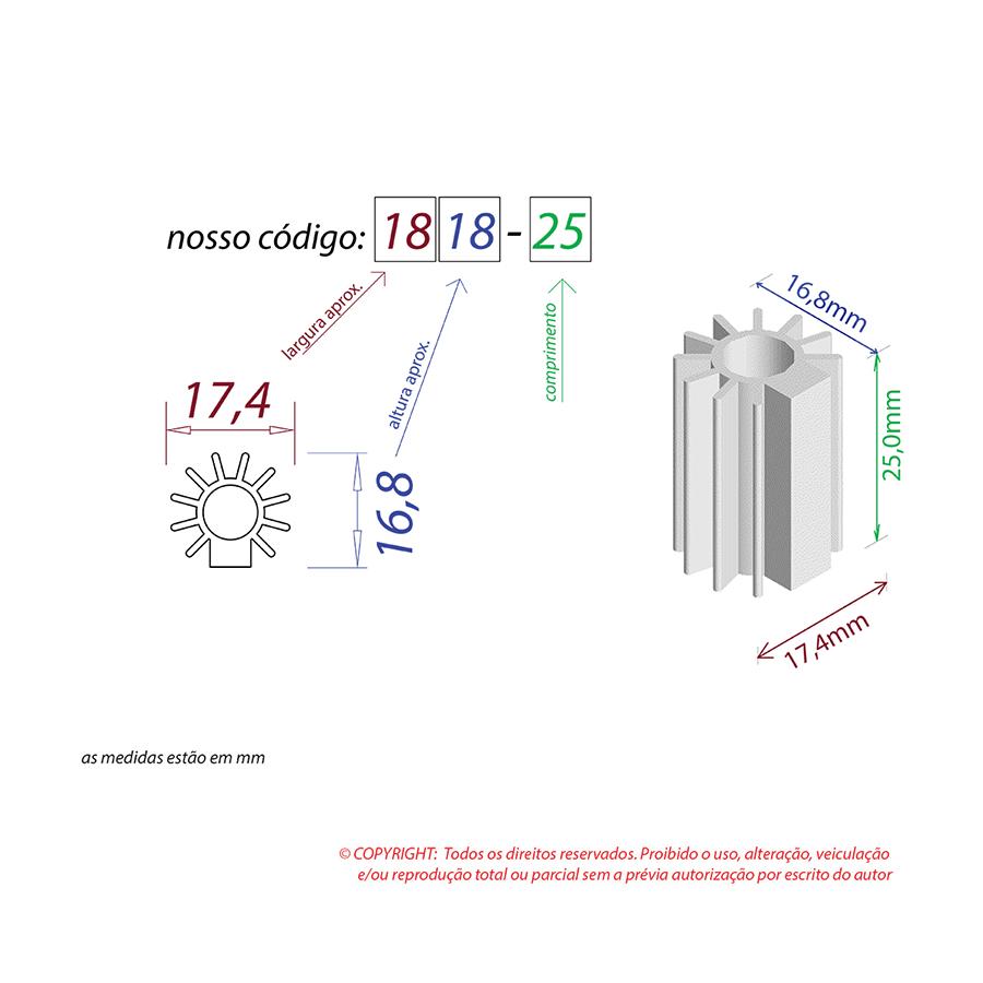 Dissipador de Calor RDD 1818-25