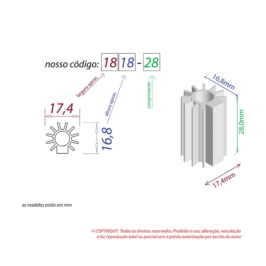 Dissipador de Calor RDD 1818-28