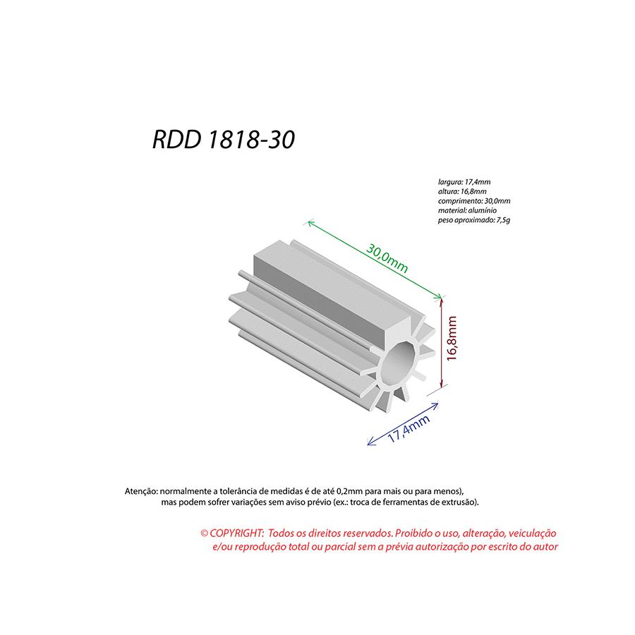 Dissipador de Calor RDD 1818-30
