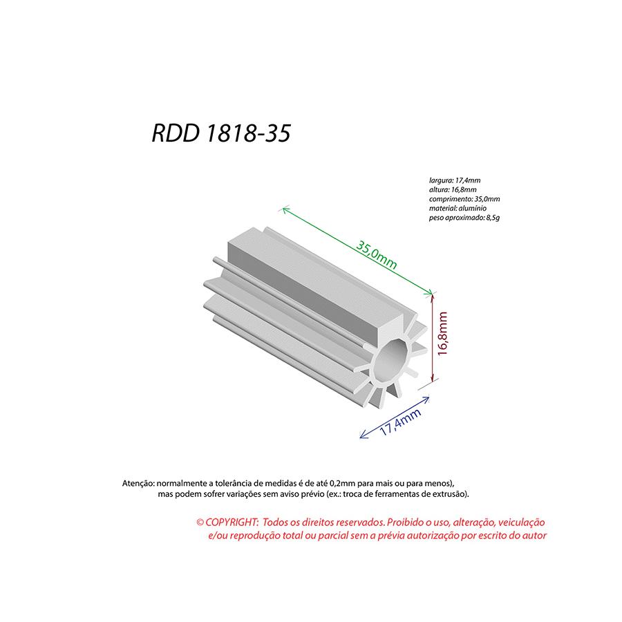 Dissipador de Calor RDD 1818-35