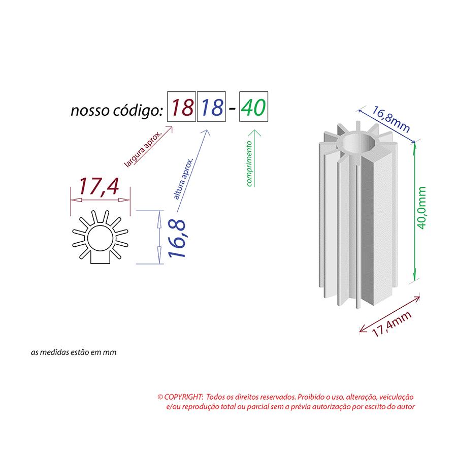 Dissipador de Calor RDD 1818-40