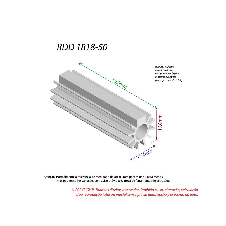 Dissipador de Calor RDD 1818-50