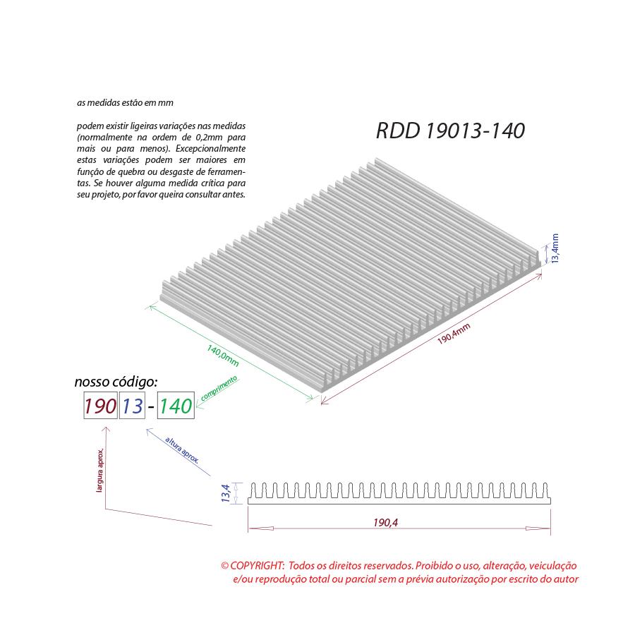 Dissipador de calor RDD 19013-140