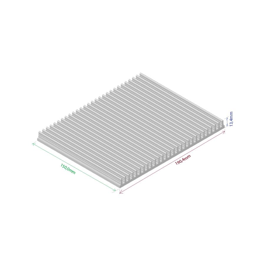 Dissipador de calor RDD 19013-150