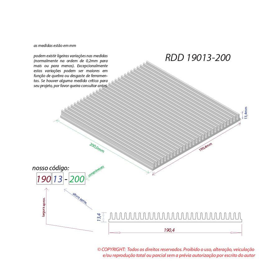 Dissipador de calor RDD 19013-200