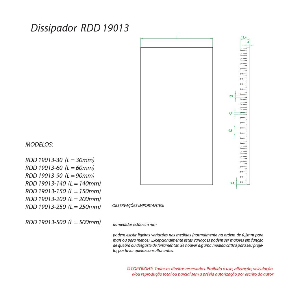 Dissipador de calor RDD 19013-250