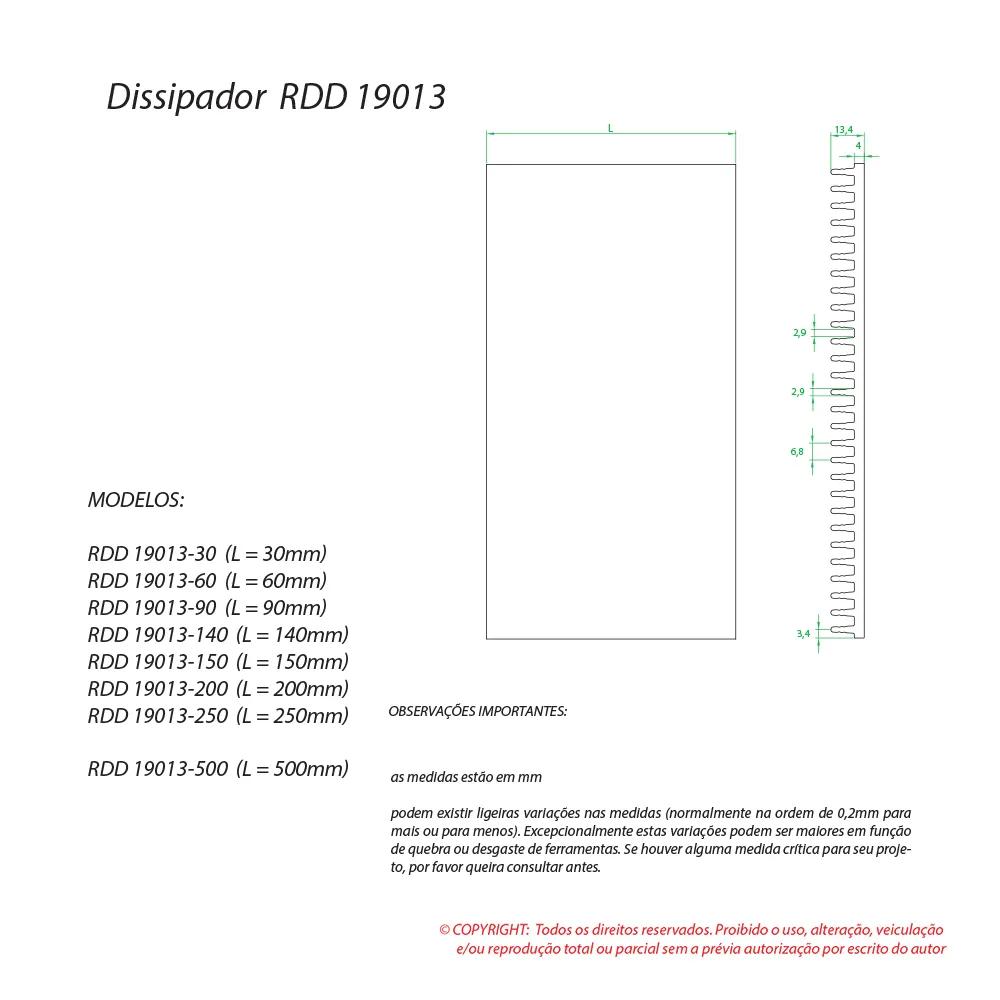 Dissipador de calor RDD 19013-330