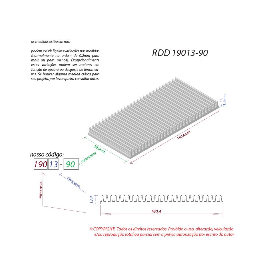 Dissipador de calor RDD 19013-90