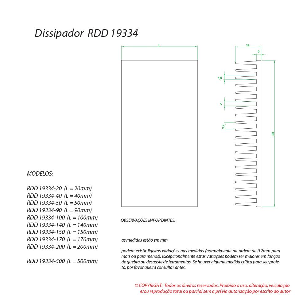 Dissipador de calor RDD 19334-150