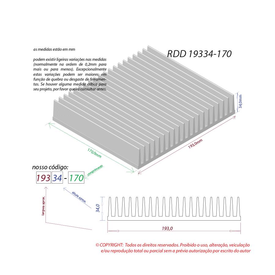 Dissipador de calor RDD 19334-170