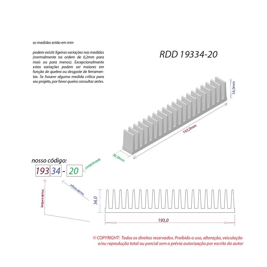 Dissipador de calor RDD 19334-20