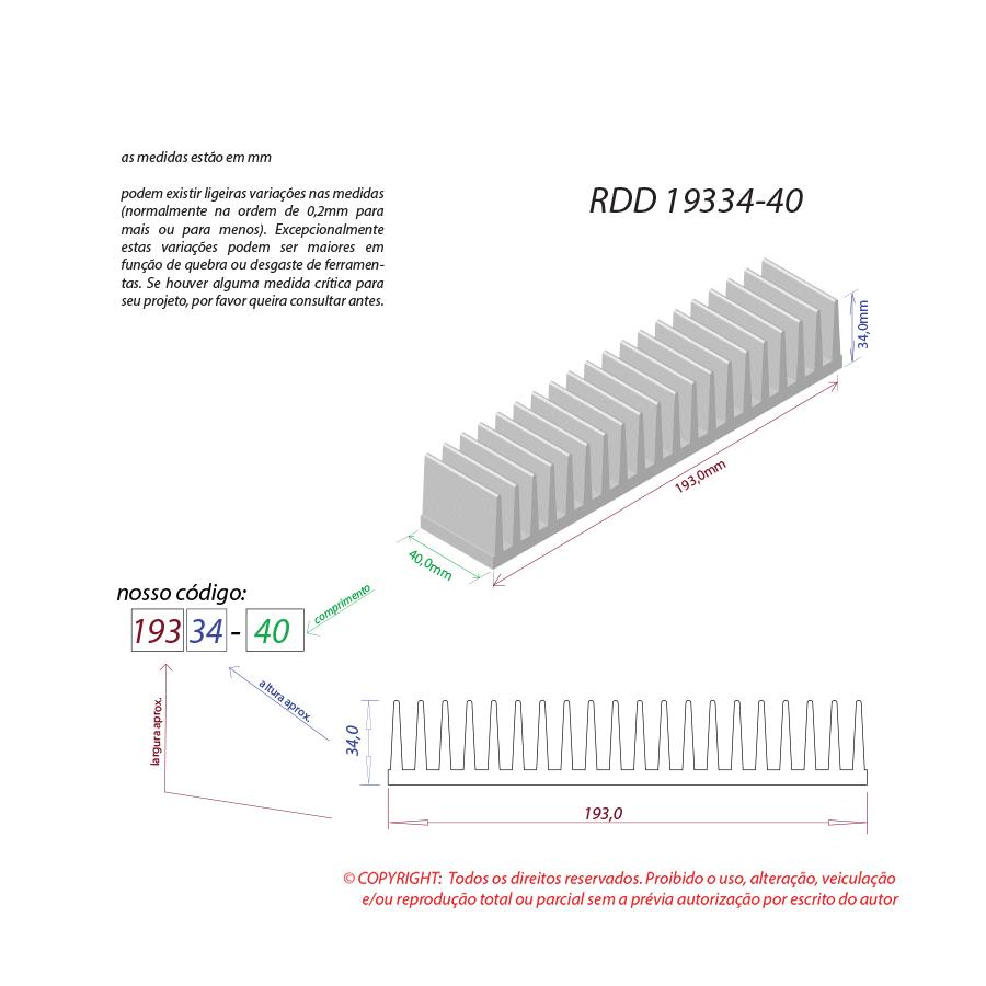 Dissipador de calor RDD 19334-40