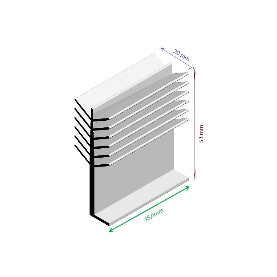 Dissipador de Calor RDD 2053-45