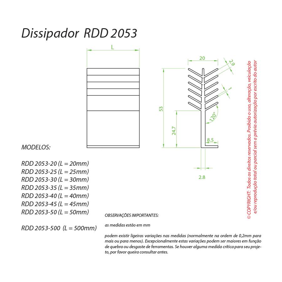 Dissipador de Calor RDD 2053-50