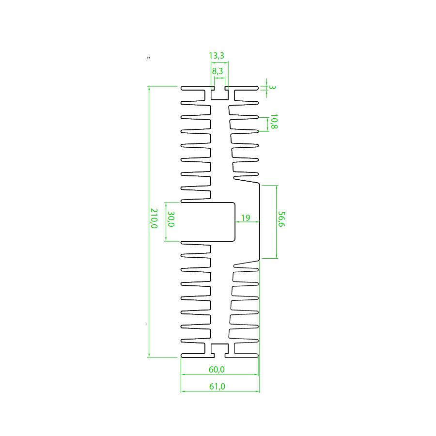 Dissipador de Calor RDD 21060-300