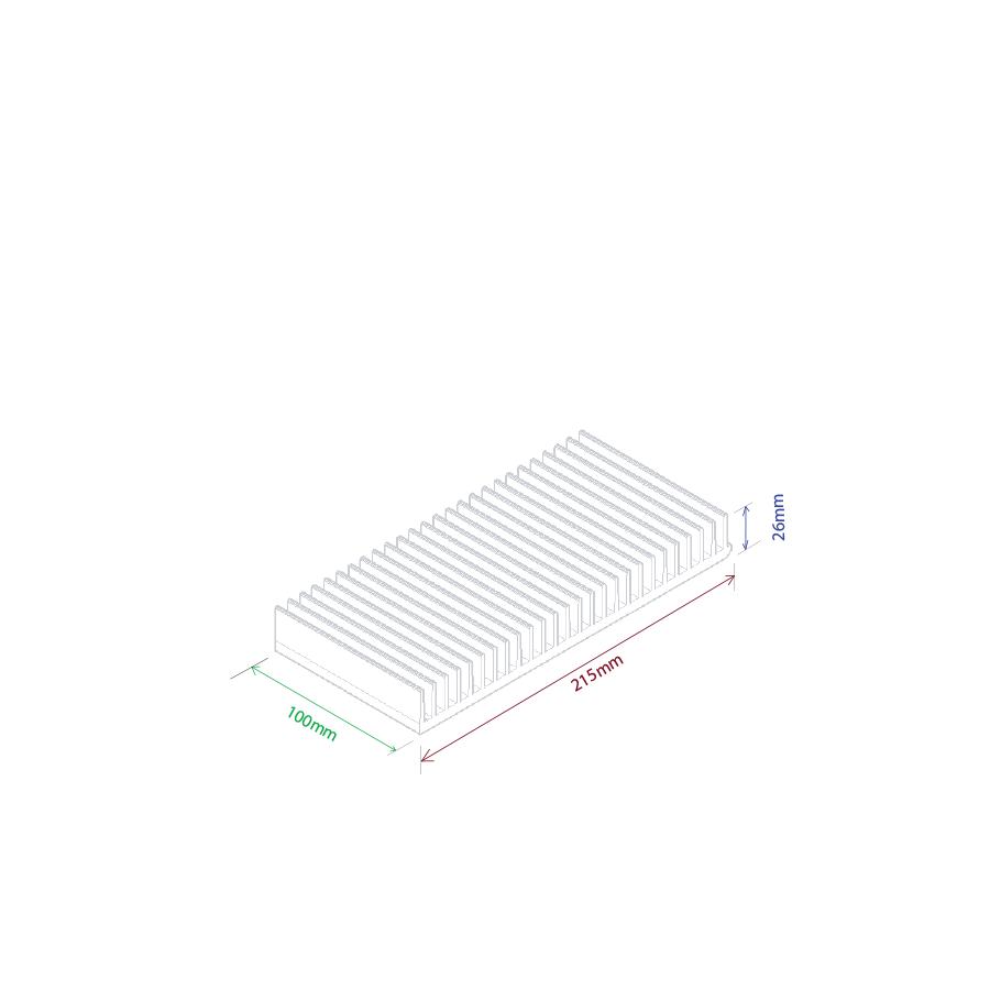 Dissipador de calor RDD 21526-100