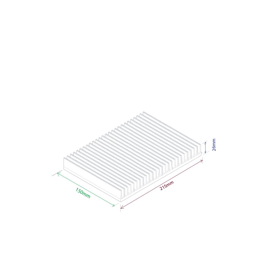 Dissipador de calor RDD 21526-150