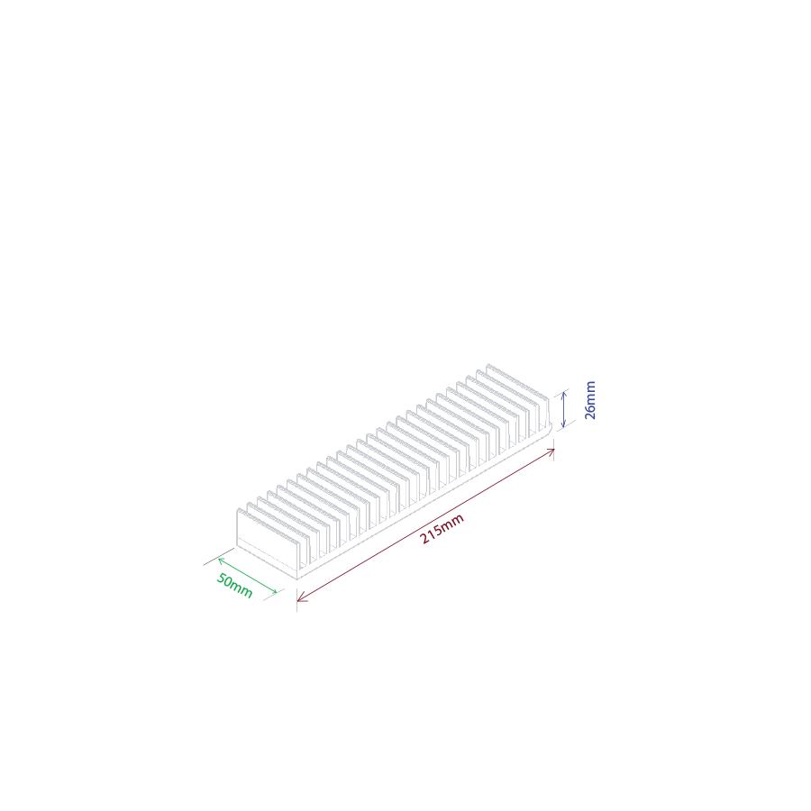 Dissipador de calor RDD 21526-50