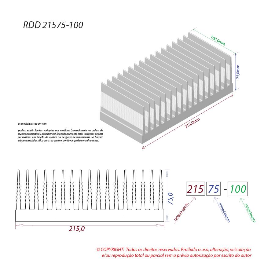 Dissipador de calor RDD 21575-100