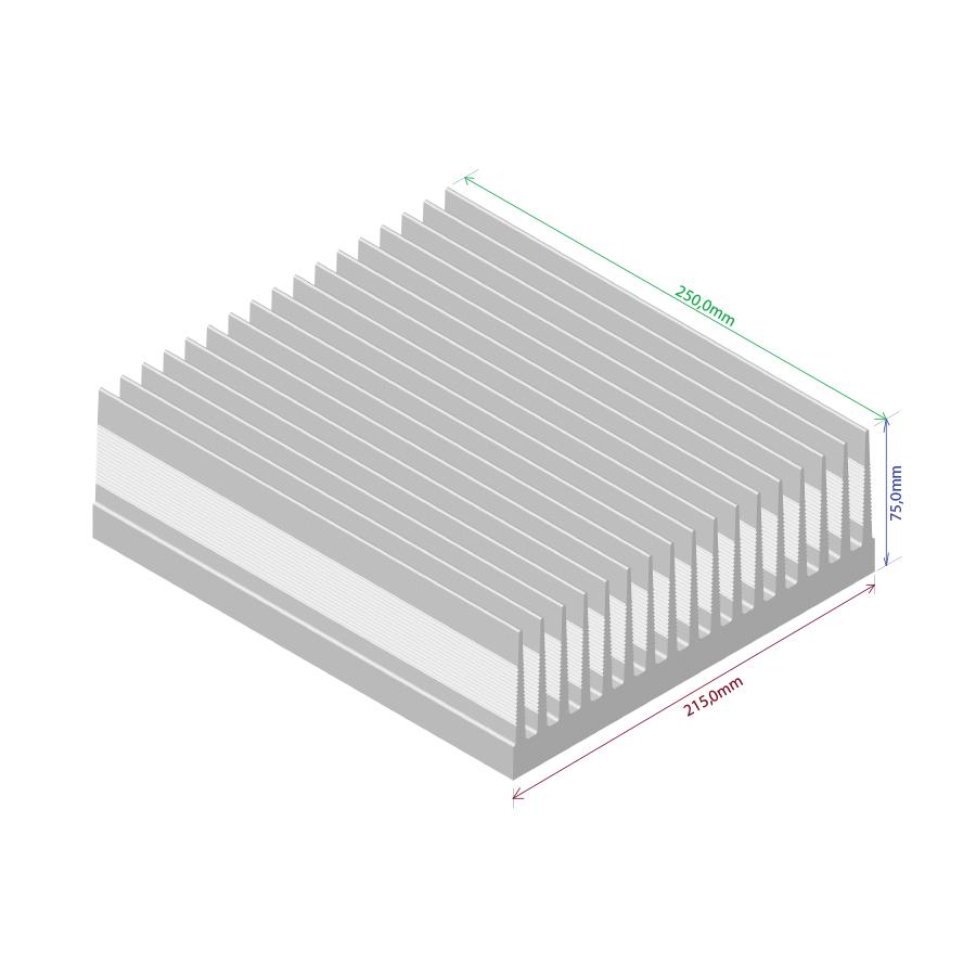 Dissipador de calor RDD 21575-250