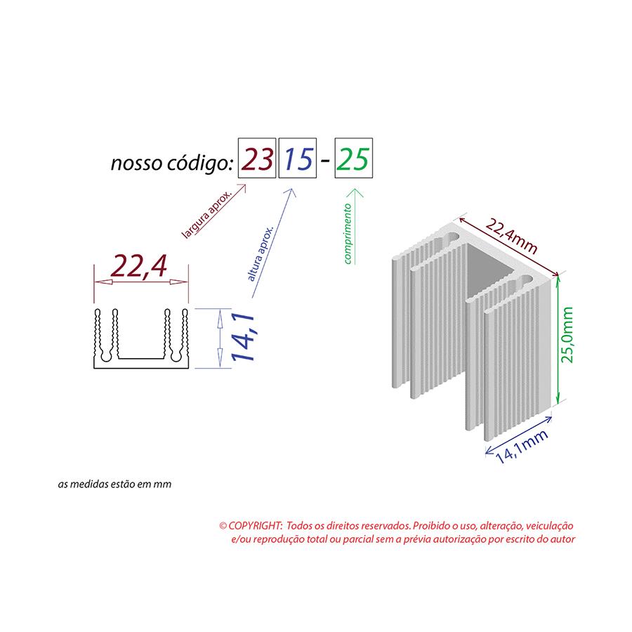 Dissipador de Calor RDD 2315-25