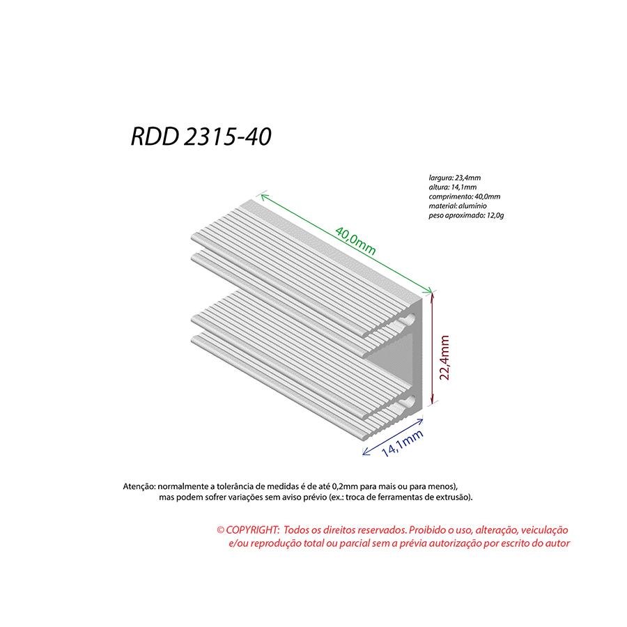 Dissipador de Calor RDD 2315-40