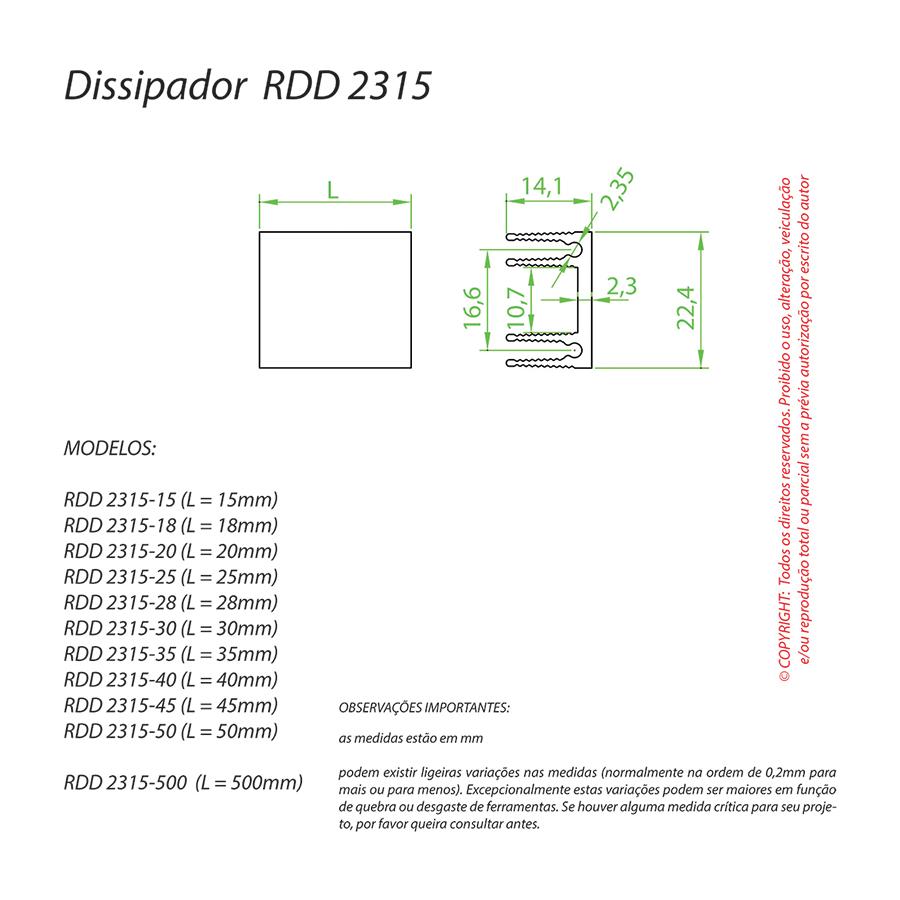 Dissipador de Calor RDD 2315-50