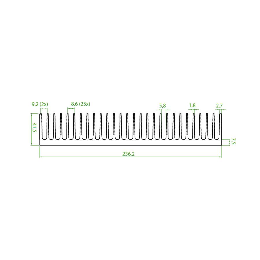 Dissipador de Calor RDD 23742-80