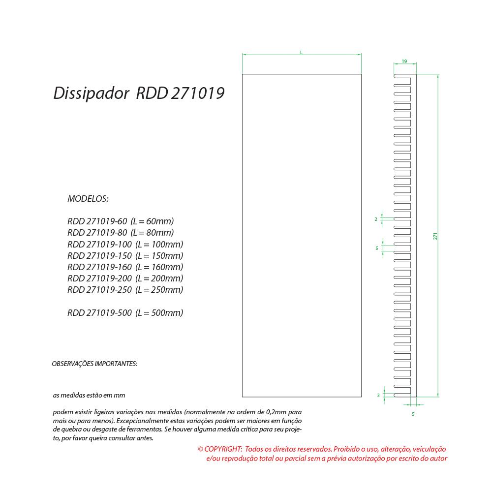 Dissipador de calor RDD 271019-100