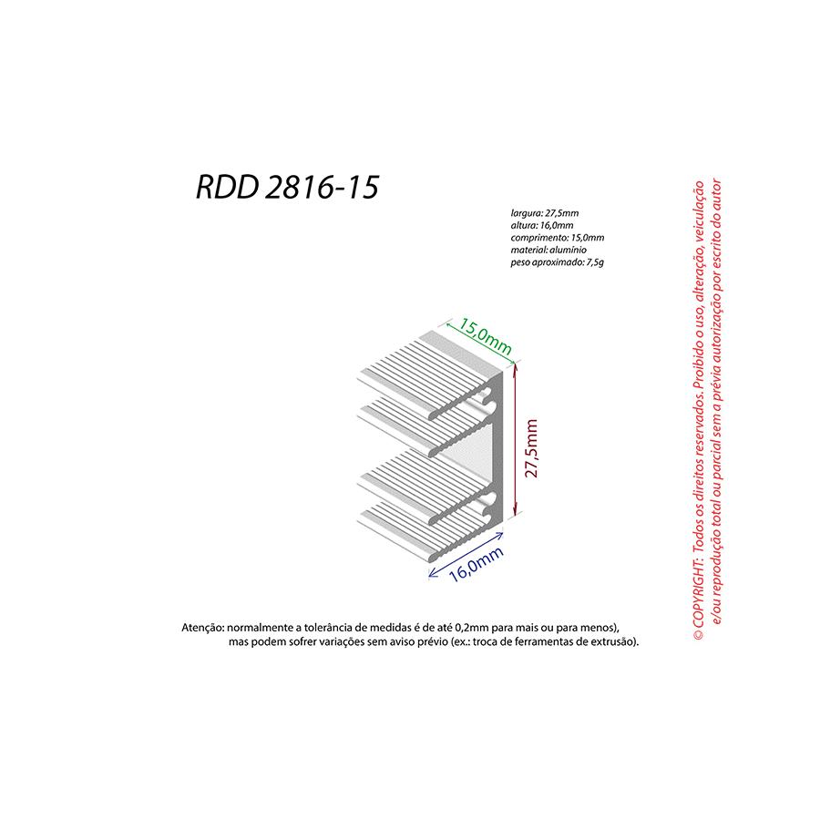 Dissipador de Calor RDD 2816-15