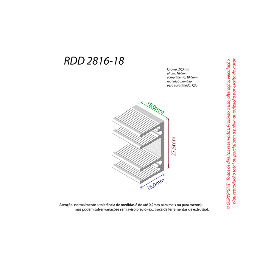 Dissipador de Calor RDD 2816-18