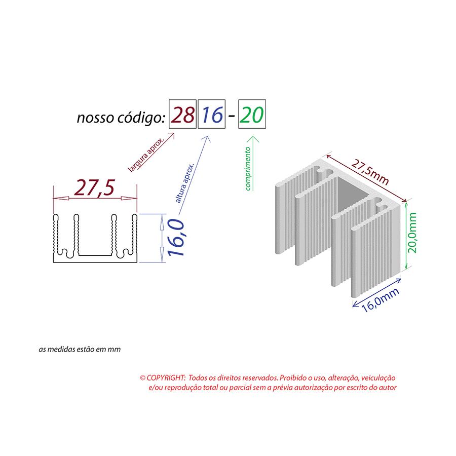 Dissipador de Calor RDD 2816-20