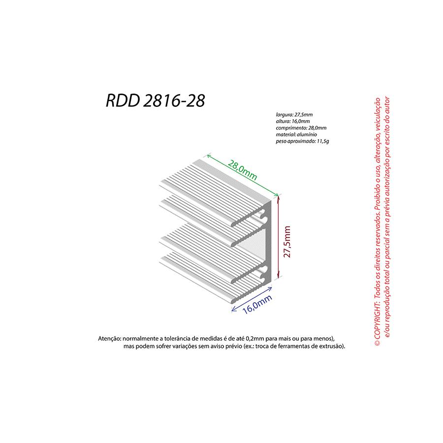 Dissipador de Calor RDD 2816-28