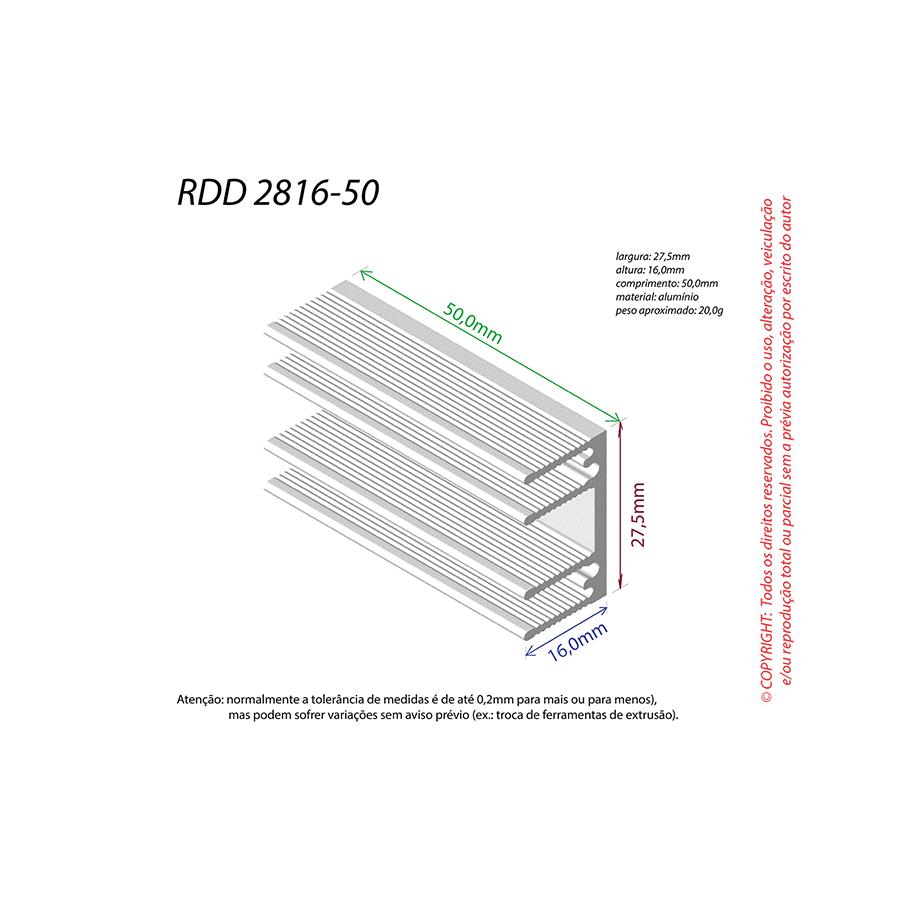 Dissipador de Calor RDD 2816-50
