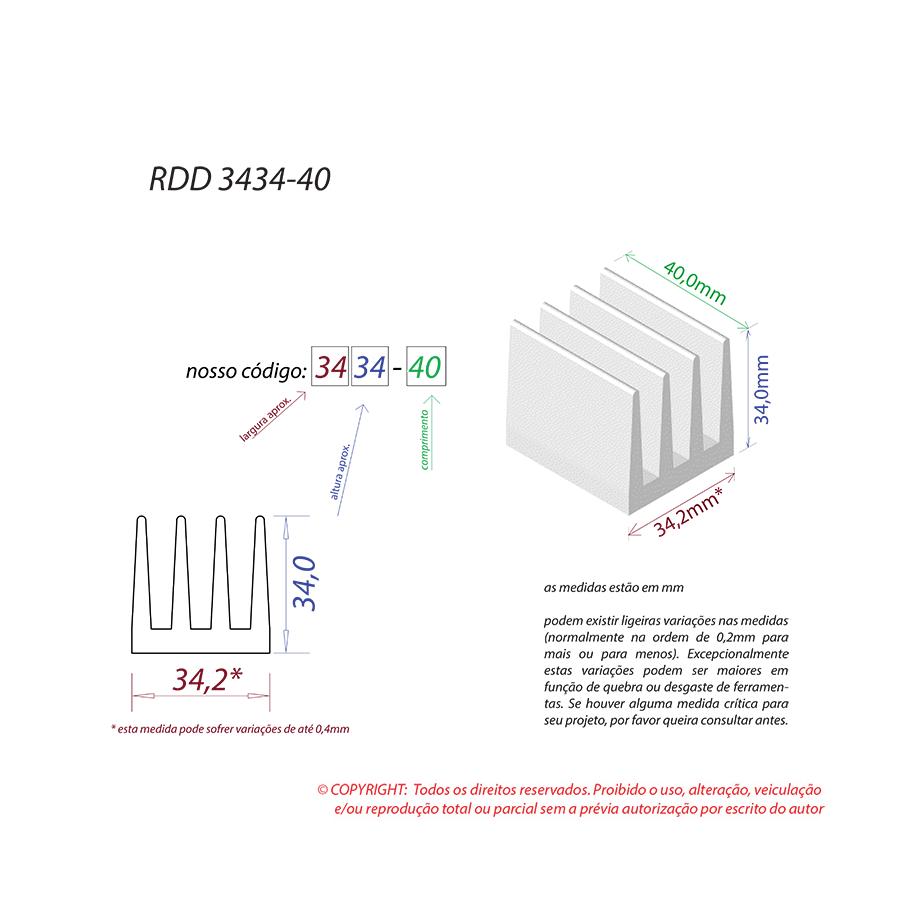 Dissipador de Calor RDD 3434-40