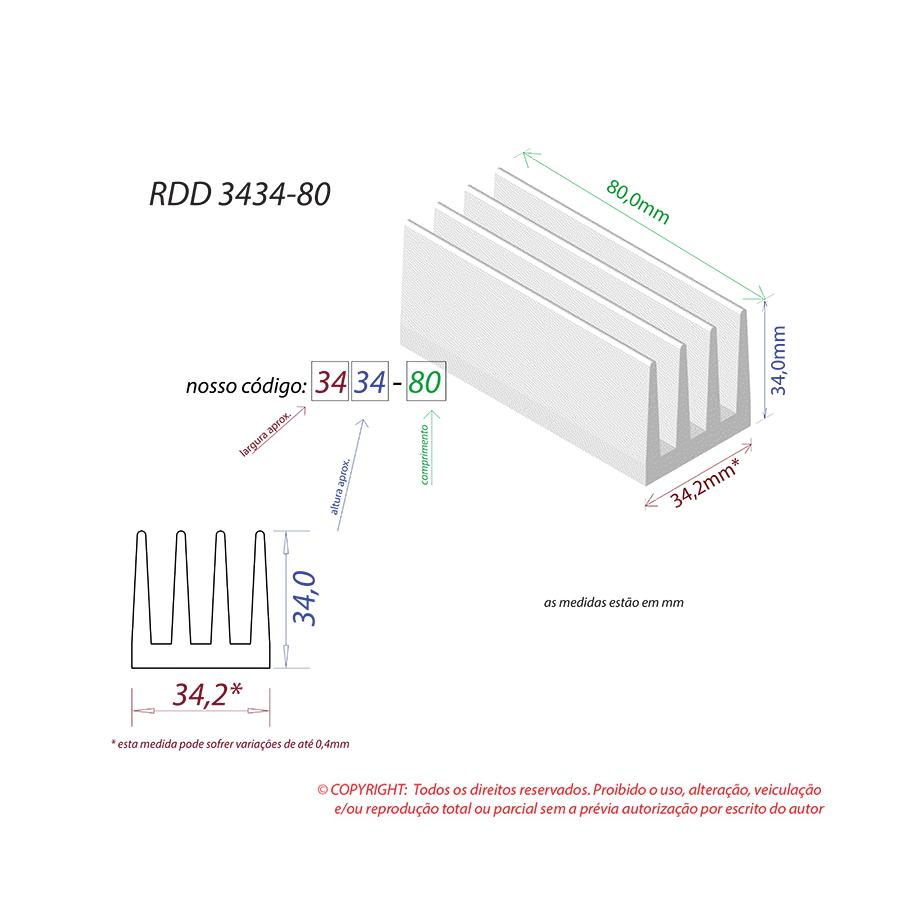 Dissipador de Calor RDD 3434-80