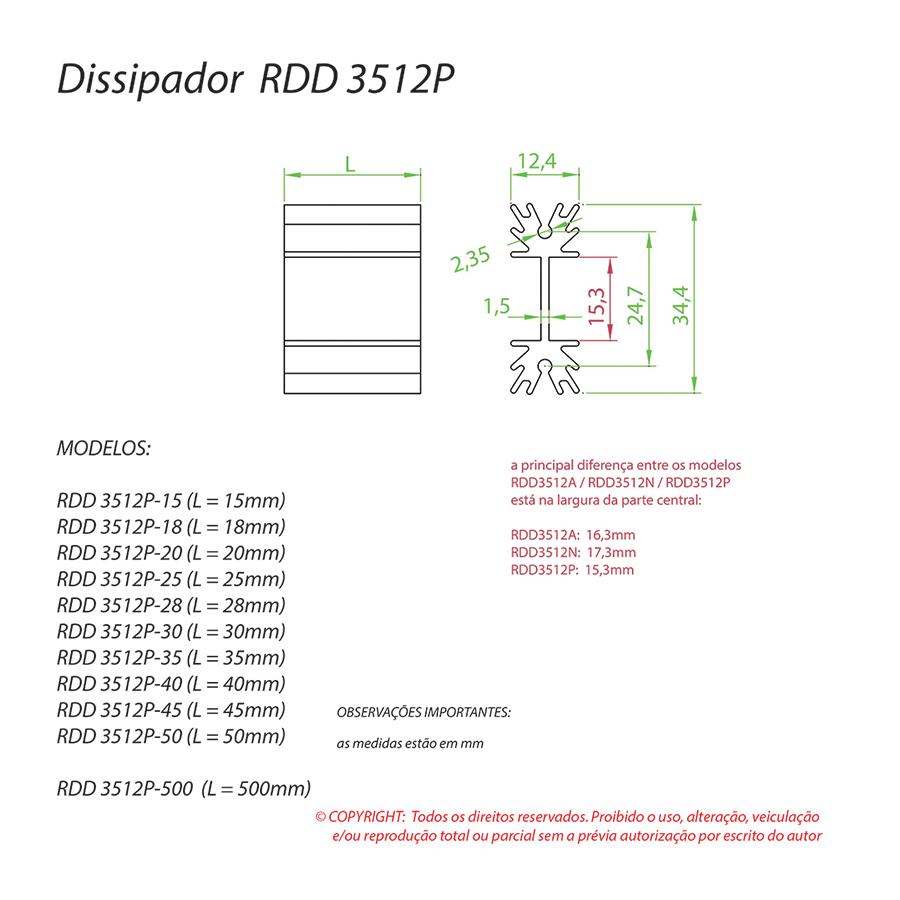 Dissipador de Calor RDD 3512P-15