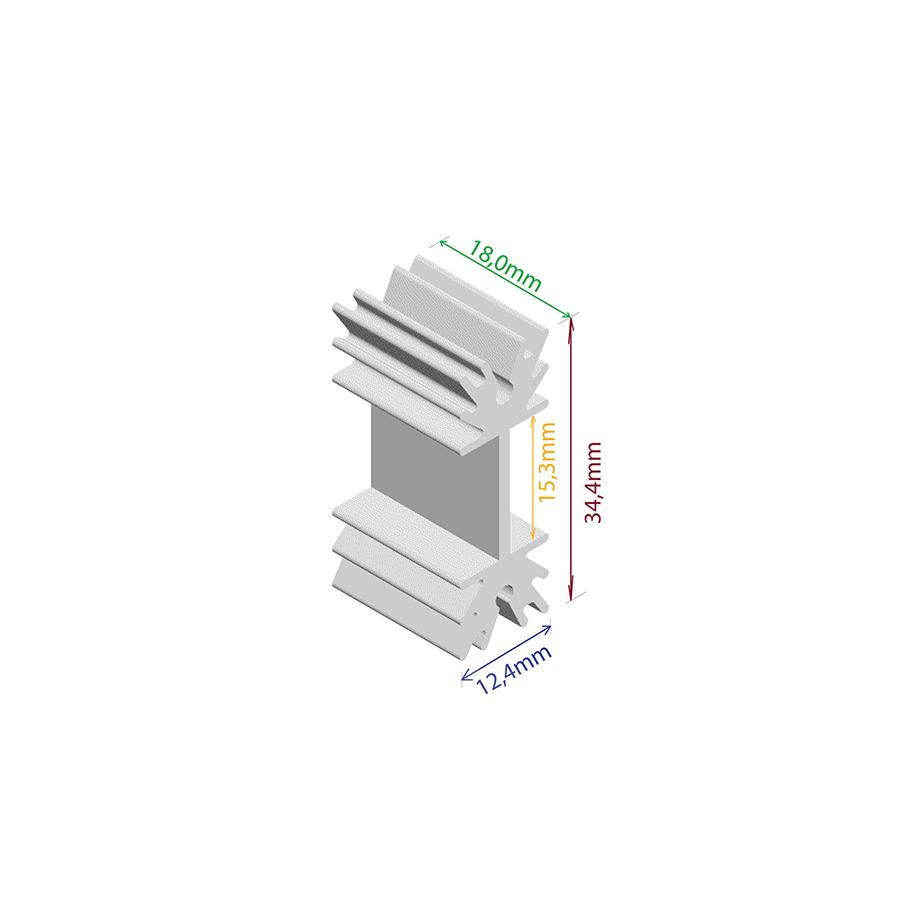 Dissipador de Calor RDD 3512P-18