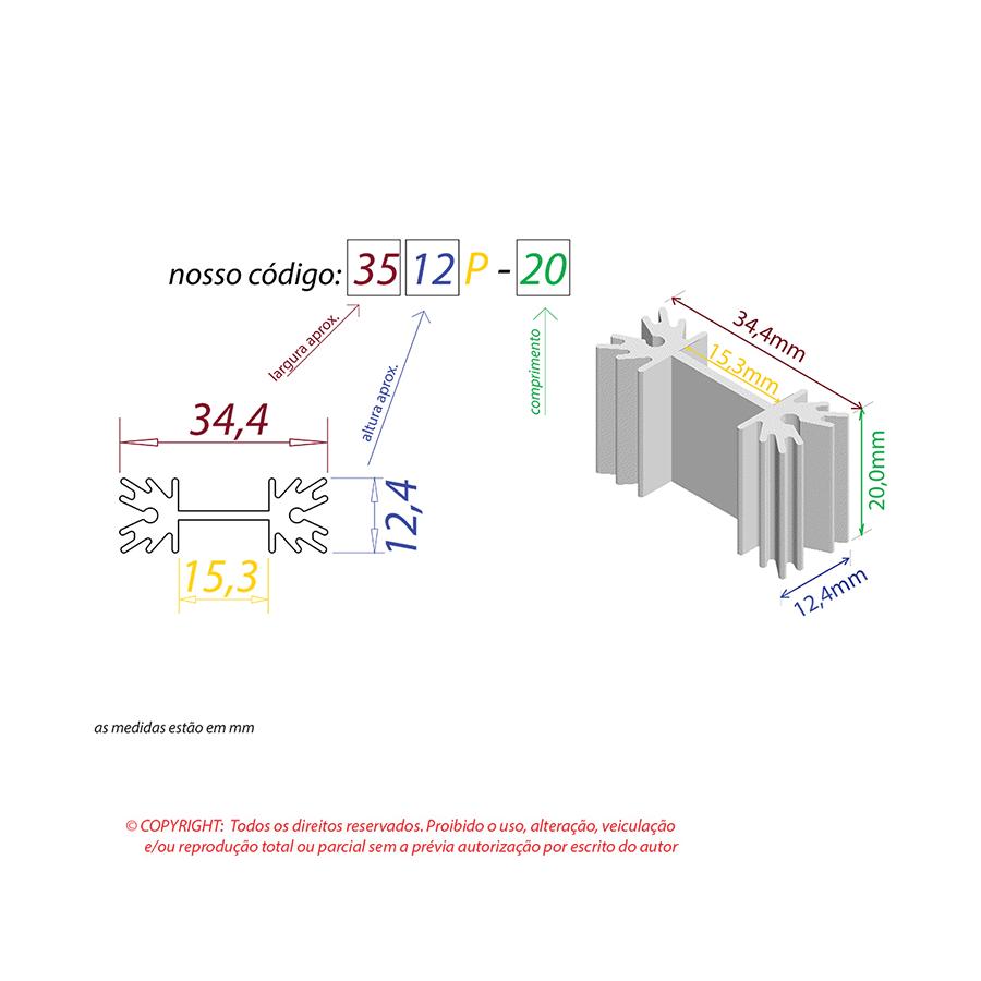 Dissipador de Calor RDD 3512P-20