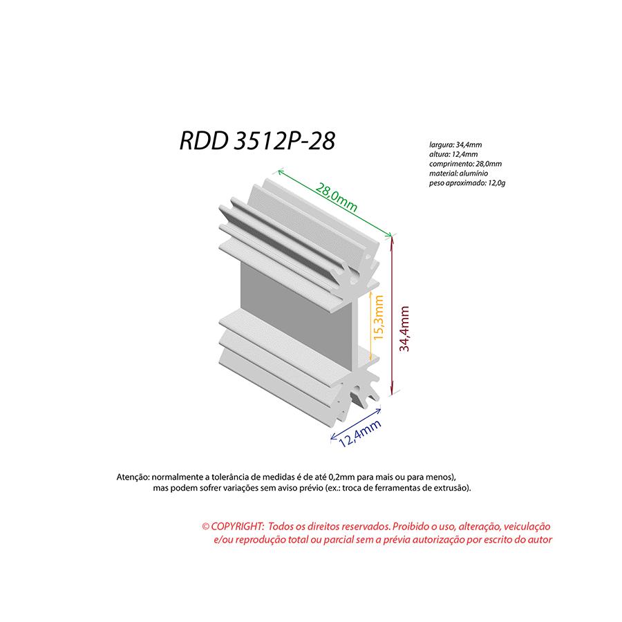 Dissipador de Calor RDD 3512P-28