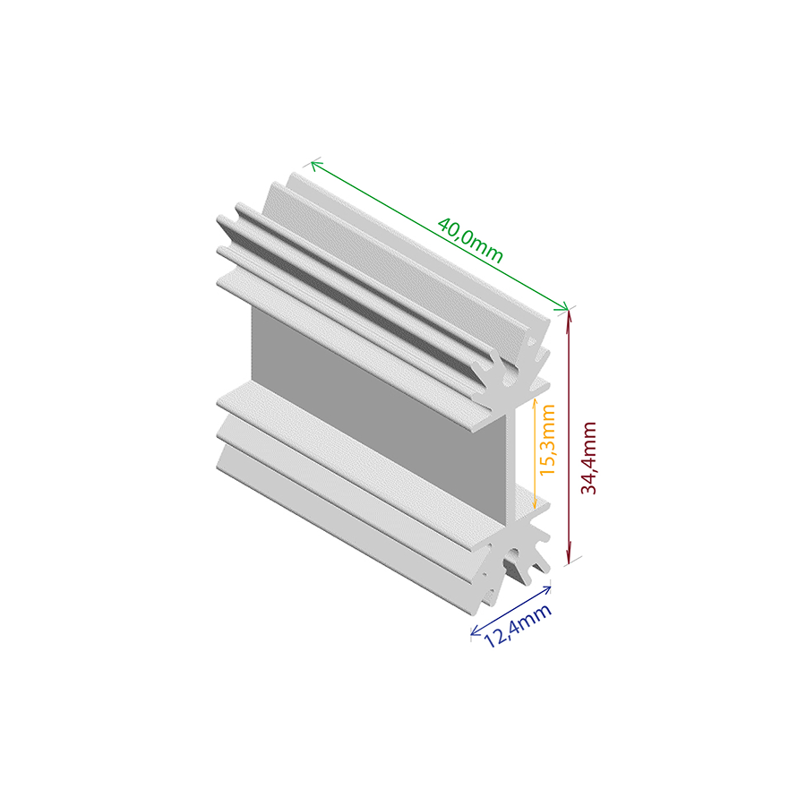 Dissipador de Calor RDD 3512P-40