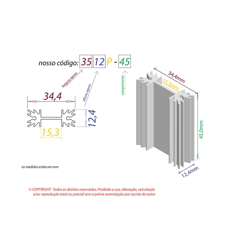 Dissipador de Calor RDD 3512P-45