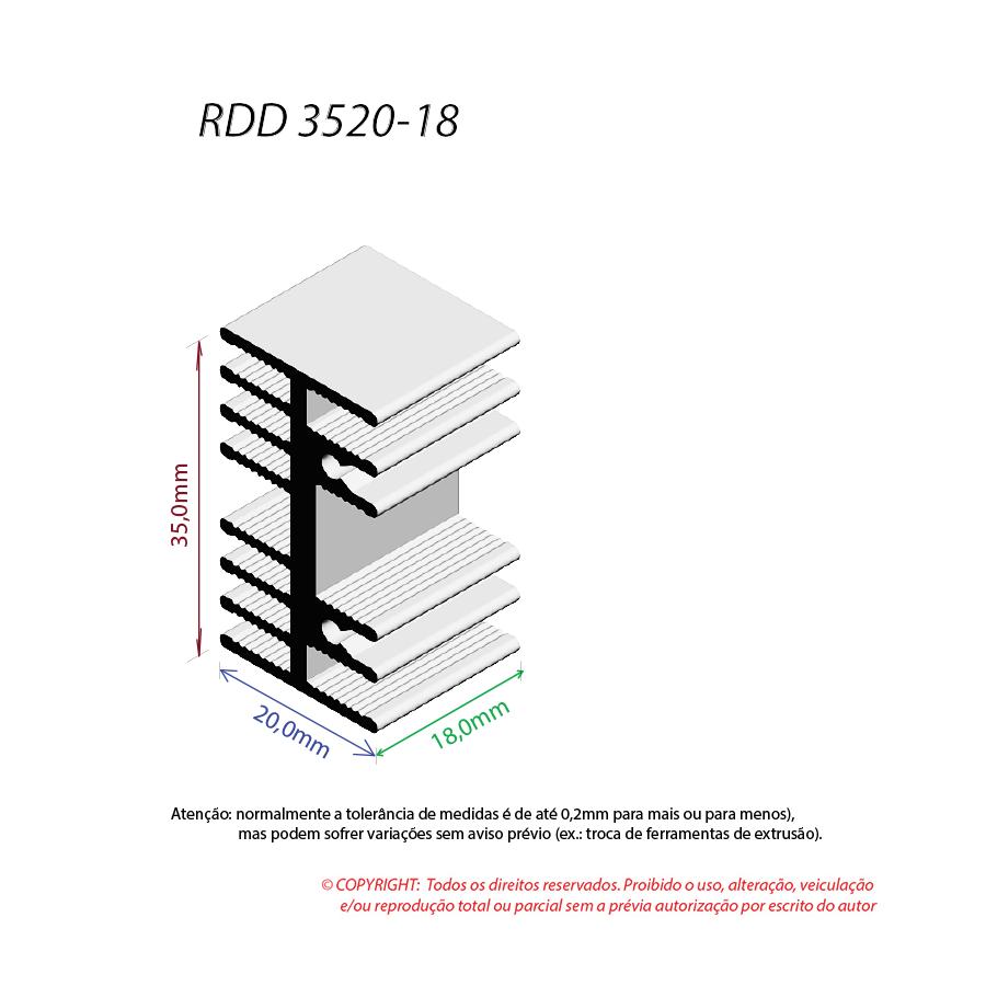 Dissipador de Calor RDD 3520-18