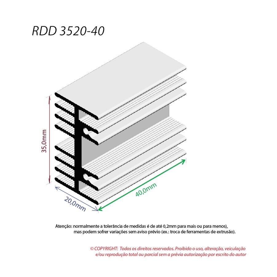 Dissipador de Calor RDD 3520-40