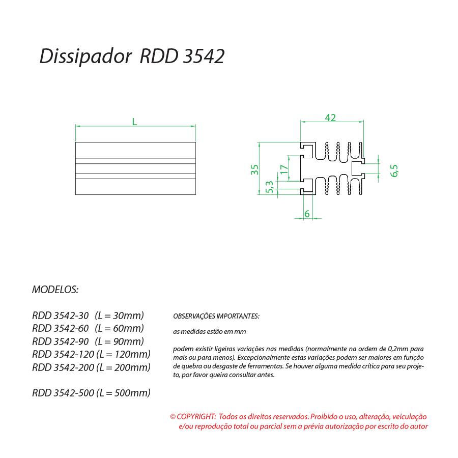 Dissipador de calor RDD 3542-60