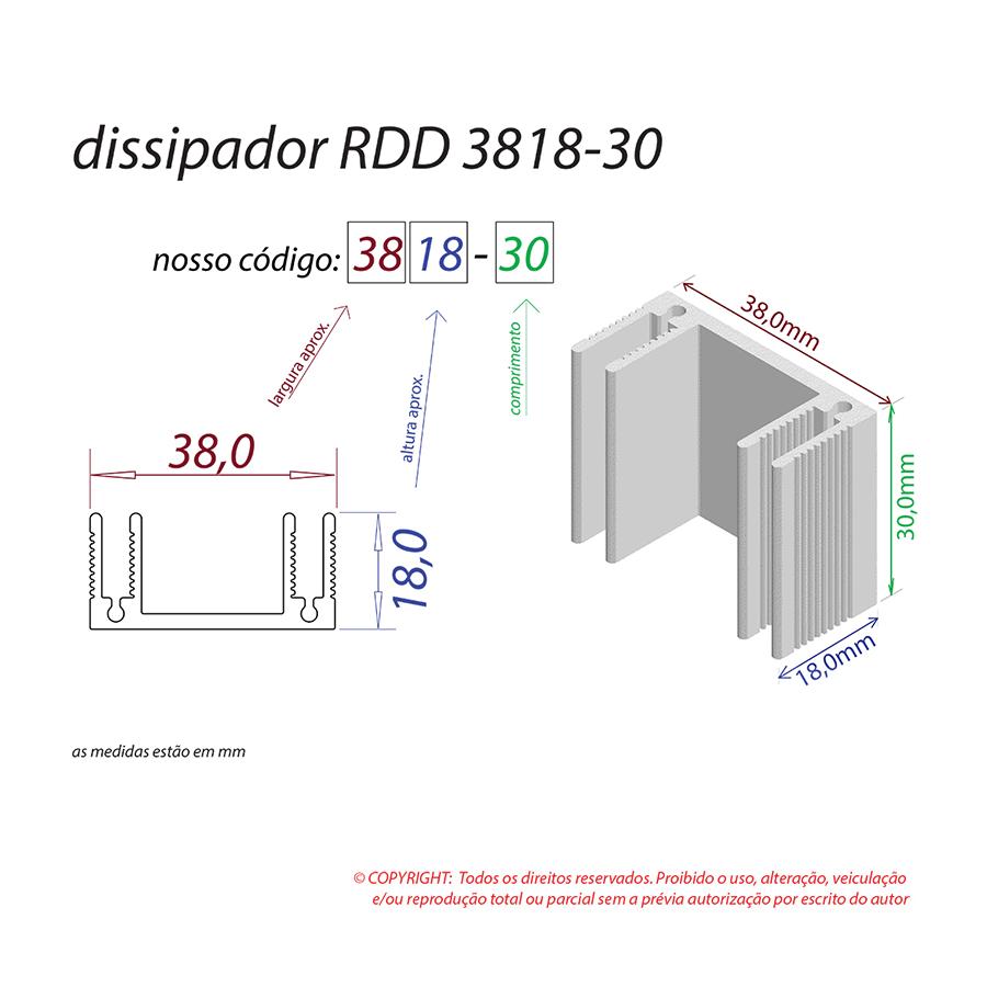 Dissipador de Calor RDD 3818-30