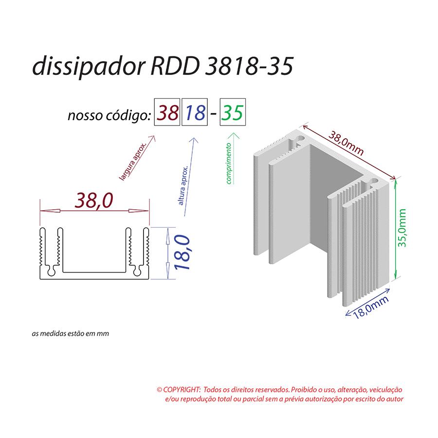 Dissipador de Calor RDD 3818-35