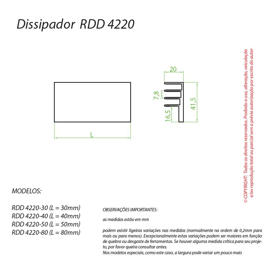 Dissipador de Calor RDD 4220-30