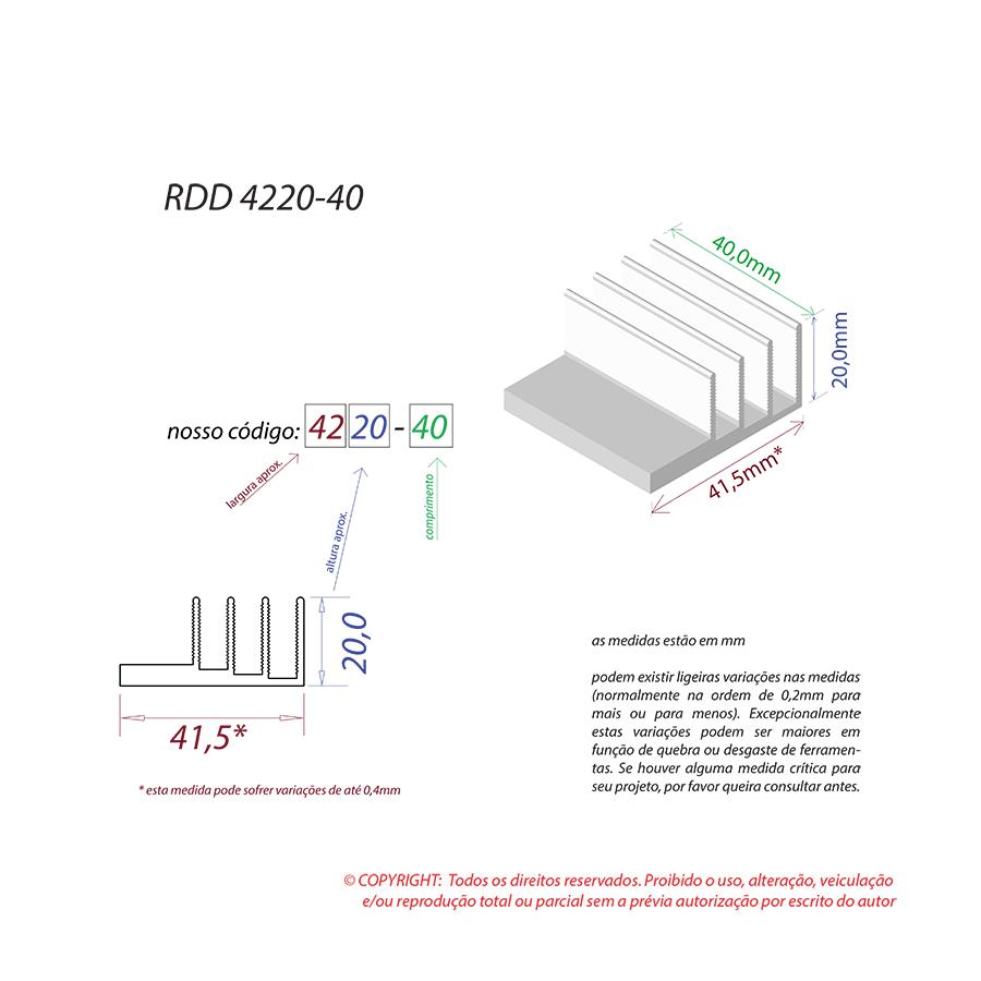 Dissipador de Calor RDD 4220-40
