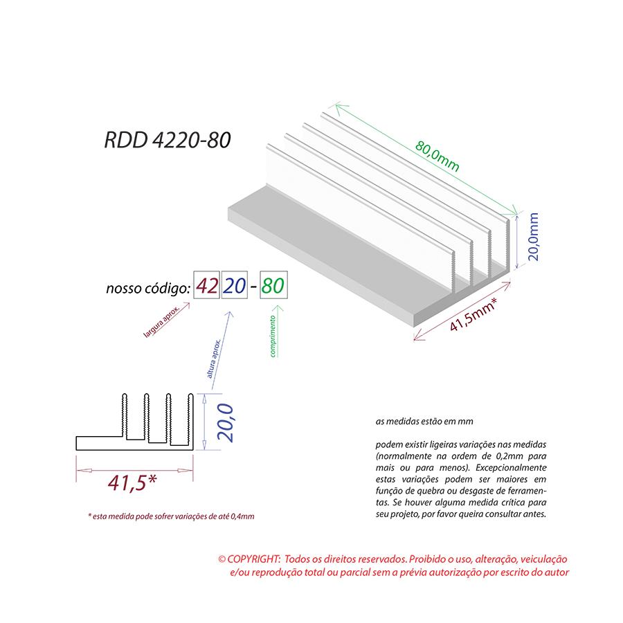Dissipador de Calor RDD 4220-80